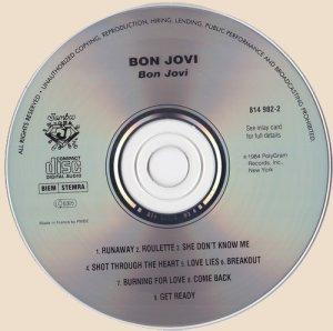 Bon Jovi (1984) CD