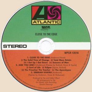 CD-Close To The Edge (1972)