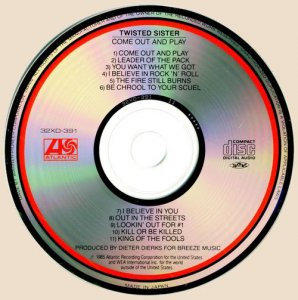 CD-Twisted Sister - Come Out And Play (1985)
