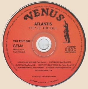 CD-Atlantis - Top Of The Bill (1978)