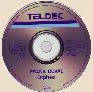 CD-Frank Duval - Orphée