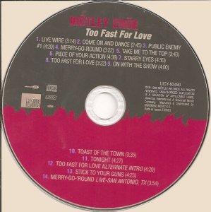 CD-Motley Crue - Too Fast For Love