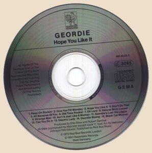 CD-Geordie - Hope You Like It