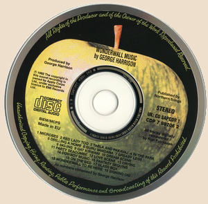 George Harrison - Wonderwall Music_CD