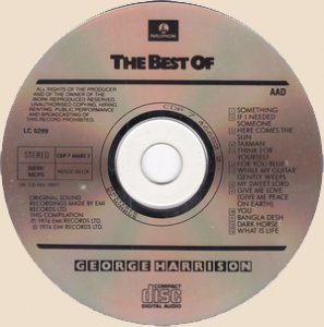 The Best Of George Harrison_disc