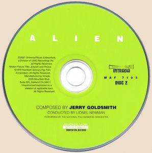 Jerry Goldsmith - Alien / Чужой (2007)